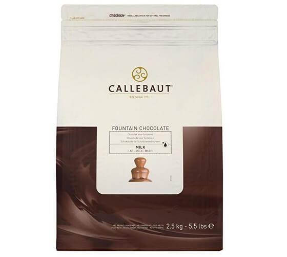 Bolsa de 2,5 kg de Chocolate con Leche para Fuentes marca Callebaut