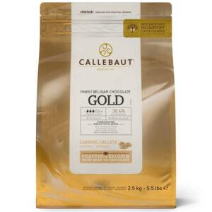 Bolsa de cobertura de chocolate Gold, Chocolate de sabor caramelo y sal