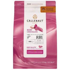 Bolsa de 2,5Kg de cobertura de chocolate Ruby de la marca Callebaut