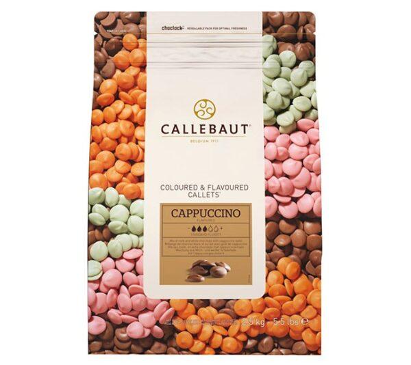 Bolsa de 2,5Kg de chocolate Callebaut de sabor a Cappuccino