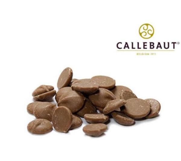 Bolsa de chocolate belga de marca Callebaut de sabor a caramelo