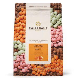 Bolsa de chocolate belga de marca Callebaut de sabor a naranja