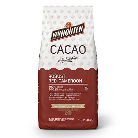 Bolsa de 1Kg de cacao en polvo rojo fuerte de Callebaut