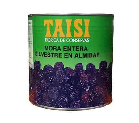 Mora silvestre en Almíbar de Taisi en bote de 3Kg