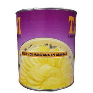 Manzana Fileteada en Almíbar en bote de 3Kg