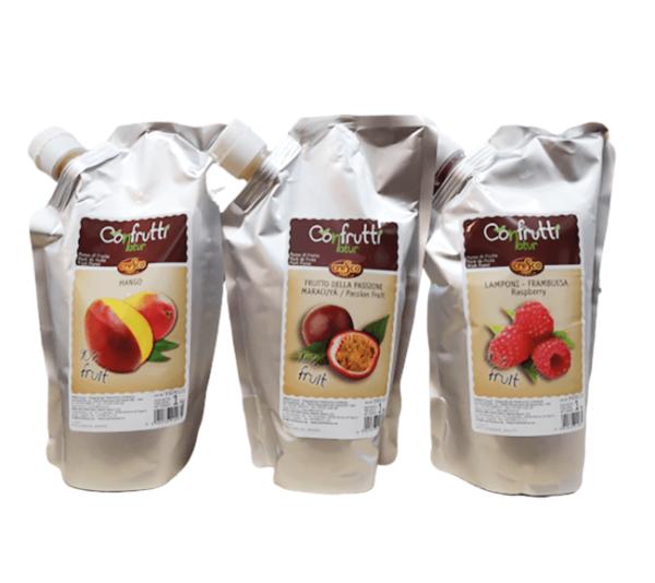 Confrutti, puré de frutas en bolsa de 1 Kg