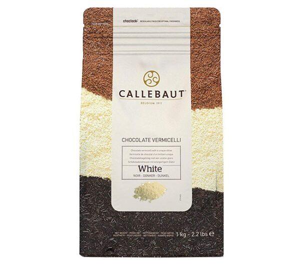 Paquete hermético de Fideos de chocolate blanco de la marca Callebaut