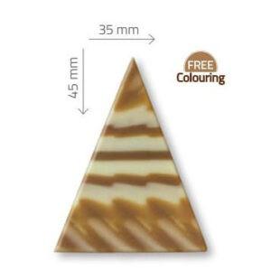 Triangulo junlge de chocolate