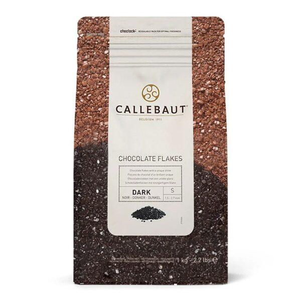 Bolsa de 1Kg de escamas de chocoalte negro de Callebaut