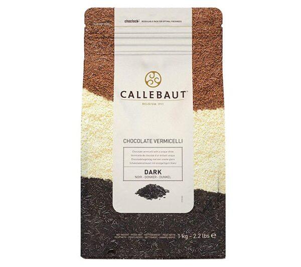 Paquete hermético de fideos de chocolate de la marca Callebaut