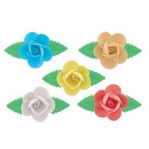 Rosa de colores en Oblea 72uds