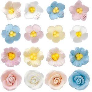 Mini Flores de Azúcar 128uds