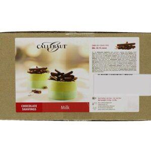 Virutas de Chocolate con Leche marca Callebaut caja de 2,5 Kg