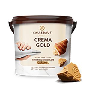 Bote de 5Kg de crema de chocolate gold de la marca Callebaut
