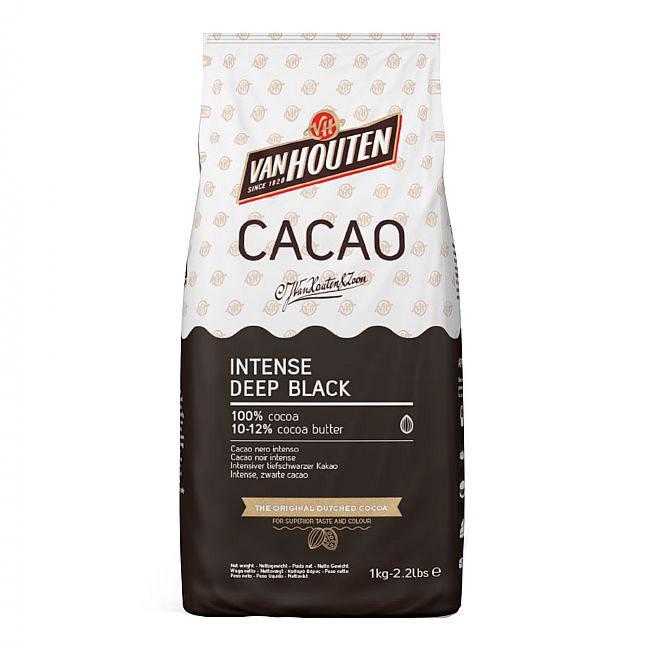 Paquete de 1Kg de cacao en polvo negro intenso de Callebaut