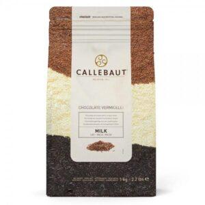 Bolsa de 1kg de fideos de chocolate con leche Callebaut