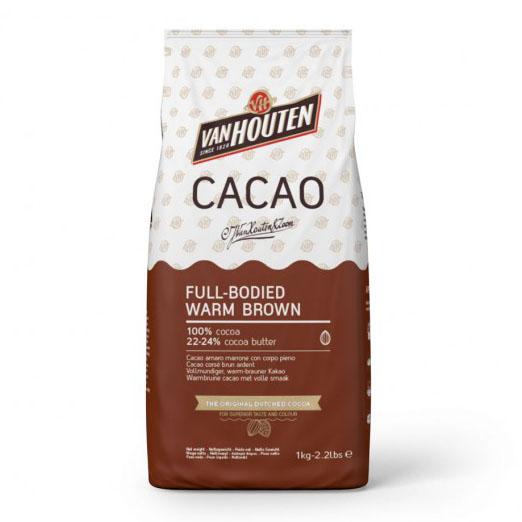 Cacao en Polvo marrón en paquete de 1 Kg