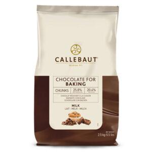 Chunks de chocoloate con leche de callebaut en bolsa de 2,5 kg