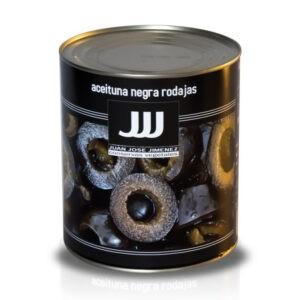 Aceituna Negra en Rodajas en bote de 3 kg