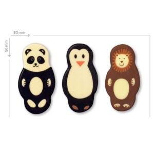 Animales de Chocolate con leche para decorar
