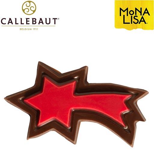 Estrella Navideña Roja Chocolate Negro Callebaut
