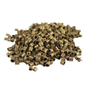 Rizos de chocolate color oro en bote de 500g