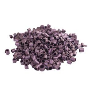 Rizos de chocolate negro color púrpura en bote de 500g