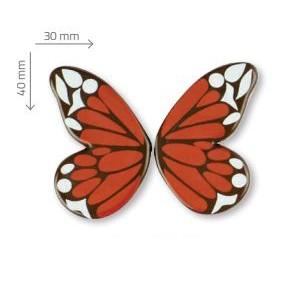Mariposa Roja de Chocolate Negro 90uds para decoración