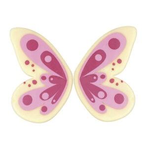 Mariposa Rosa de Chocolate Blanco 90uds para decoración