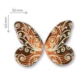 Mariposa Diseño de Chocolate Negro 90uds para decoración