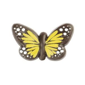 Mariposa Mini Amarilla de Chocolate Negro 90uds