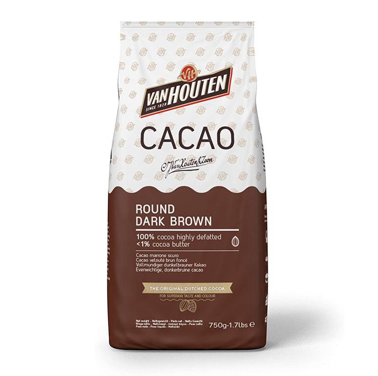 cacao en polvo Marrón oscuro redonde de Callebaut en bolsa de 750g