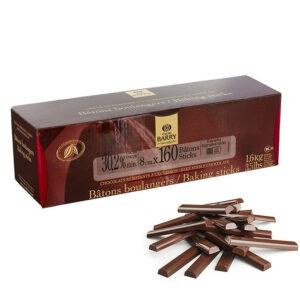 Caja de barritas de chocolate leche de barri en 1,6Kg