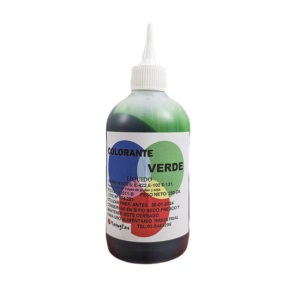 Colorante verde liposoluble en botella de 250g