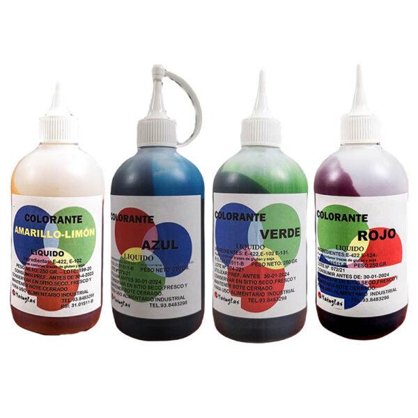 Colorantes liposolubles en bote de 250ml