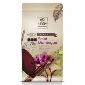 Cobertura Negra Santo Domingo 70% Cacao de Barry