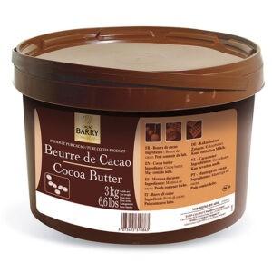 Pura Manteca de Cacao en Callets Barry en 3Kg