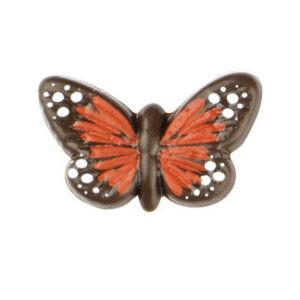 Mariposa Mini Roja de Chocolate Negro 90uds